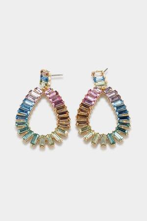 Emerson Baguette Teardrop Earrings | francesca's