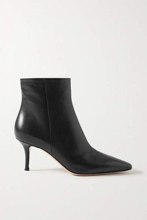 70 Leather Ankle Boots - Black