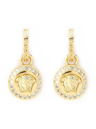 Shop Versace Greca and Medusa drop earrings with Express Delivery - FARFETCH
