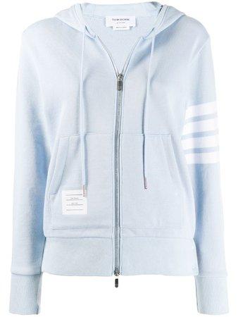 Thom Browne 4-Bar Engineered Zip-Up Hooded Jacket Ss20 | Farfetch.com