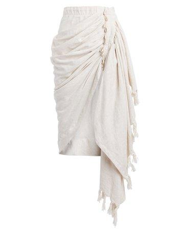 JUST BEE QUEEN Tulum Draped Midi Skirt | INTERMIX®