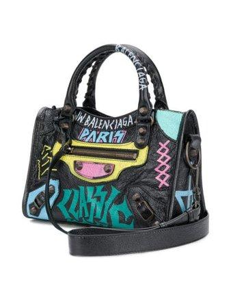 Balenciaga Graffiti Classic City Mini Leather Bag - Farfetch