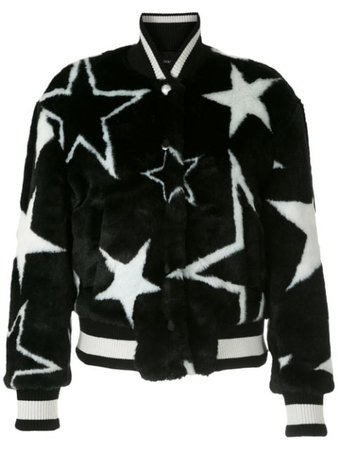 Dolce & Gabbana faux-fur Star Print Bomber Jacket - Farfetch