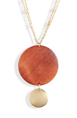 Ettika Wood Pendant Necklace | Nordstrom