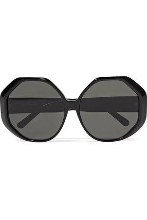 Linda Farrow | Oversized round-frame acetate sunglasses | NET-A-PORTER.COM