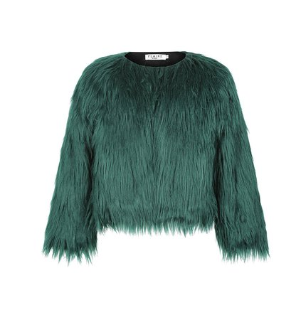 Jakke Emerald Faux Fur Coat