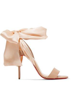 Christian Louboutin | Sandale Du Desert 100 leather and satin sandals | NET-A-PORTER.COM