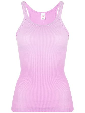 RE/DONE Ribbed Cotton Tank Top - Farfetch
