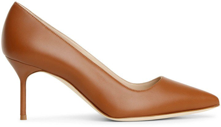 BB 70 tan leather pumps