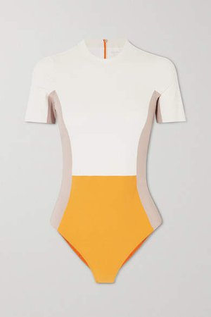Cheyenne Color-block Swimsuit - Cream