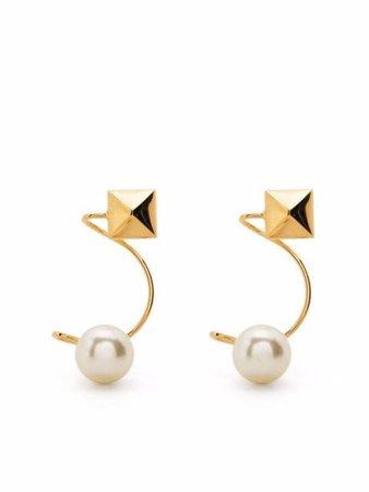 Valentino Garavani pearl-rockstud Embellished Earrings - Farfetch
