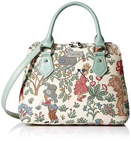 Amazon.com: Signare Tapestry Mint Green Top Handle Handbag with Detachable Strap to Convert to Shoulder Bag in Alice in Wonderland Design (CONV-ALICE): Signare USA