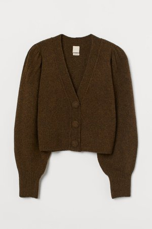 Wool-blend Cardigan - Yellow