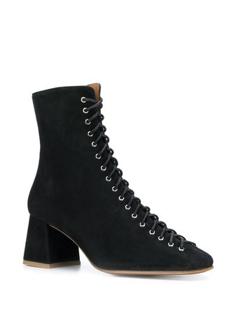 By Far Lace Up Ankle Boots Aw19 | Farfetch.Com