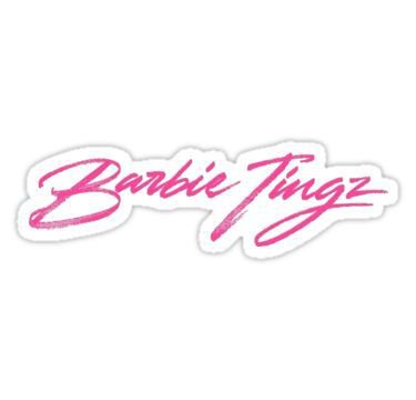 Barbie Tingz - Nicki Minaj | Sticker (With images) | Barbie tattoo, Nicki minaj, Barbie