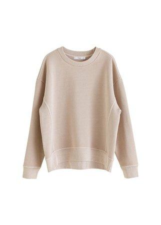 MANGO Distressed-effect sweatshirt