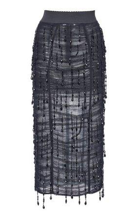 Ruched Chiffon Pencil Skirt By Dolce & Gabbana | Moda Operandi