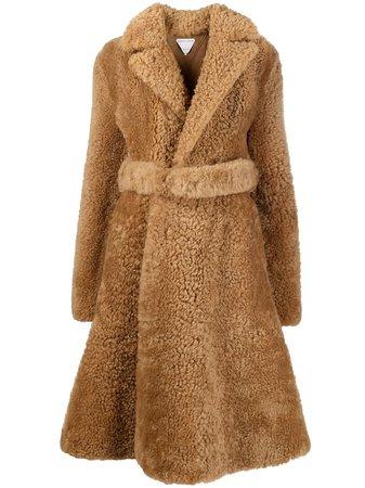 Bottega Veneta Shearling mid-length Coat - Farfetch