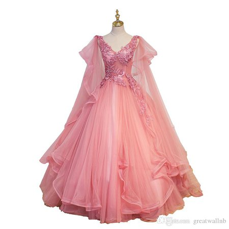 Luxury Wave Sleeve Pink Fairy Embroidery Ball Gown Medieval Dress Cartoon Princess Medieval Renaissance Gown Queen Cosplay Victoria Dress Girls Costumes Spiderman Costumes From Greatwallnb, $160.41| DHgate.Com