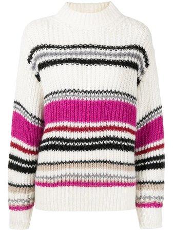 IRO ribbed-knit Striped Jumper - Farfetch