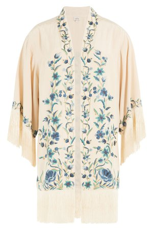 Embroidered Silk Jacket Gr. S
