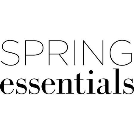 spring essentials text