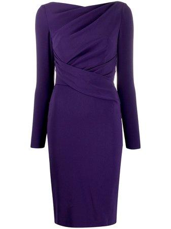 Talbot Runhof Draped Evening Dress - Farfetch
