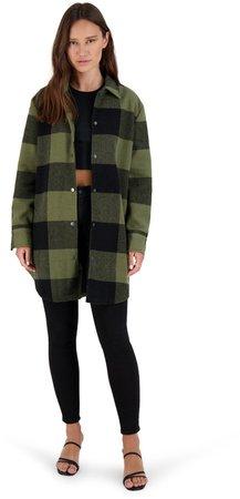 Eldridge Plaid Coat Sage
