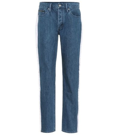 CALVIN KLEIN JEANS High-waisted taped jeans