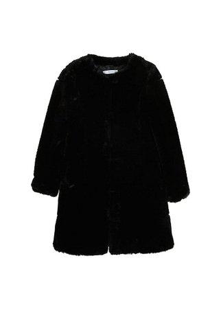 MANGO Unstructured fluffy coat