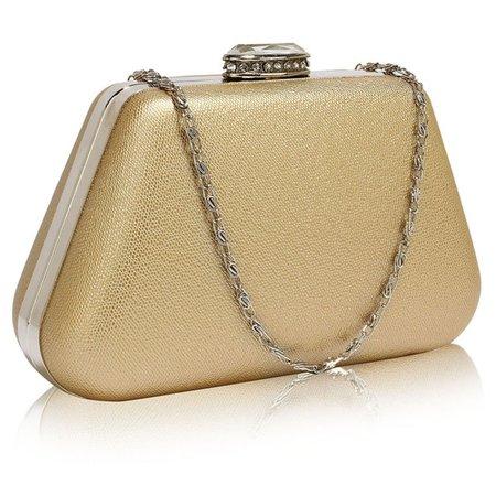 Women's Gold Box Clutch Bag – Tesoros