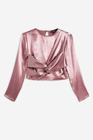 Twist Satin Top - Shirts & Blouses - Clothing - Topshop