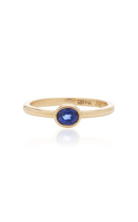 RENNA Oval Sapphire Ring