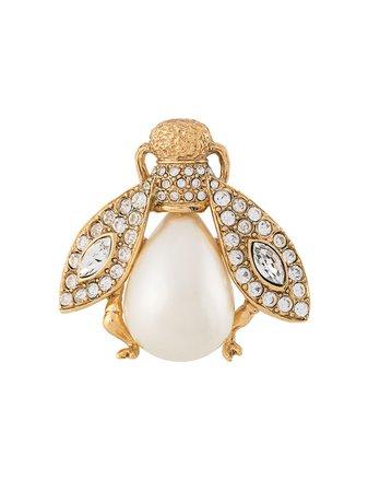 Christian Dior Pre-Owned Rhinestone Embellished Fly Brooch Vintage   Farfetch.Com