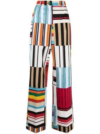 Dolce & Gabbana stripe-detail high-waisted Trousers - Farfetch