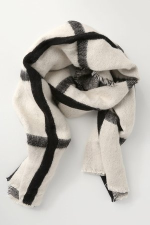 Cool Black and Ivory Scarf - Plaid Scarf - Oversize Scarf - Lulus