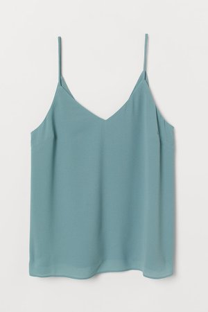 V-neck Camisole Top - Turquoise