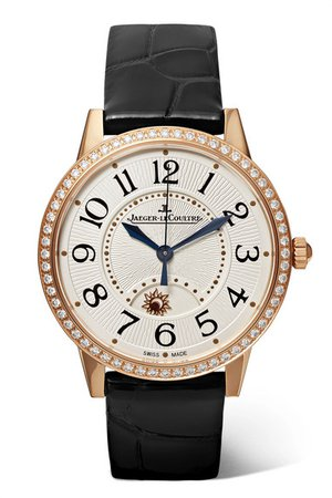 Jaeger-LeCoultre | Rendez-Vous Night & Day 34mm rose gold, alligator and diamond watch | NET-A-PORTER.COM