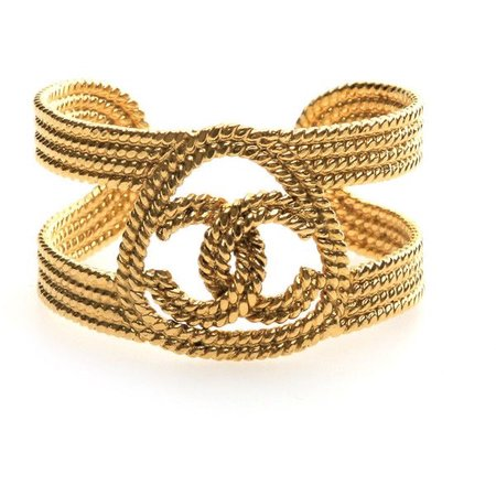 chanel gold cuff bracelet