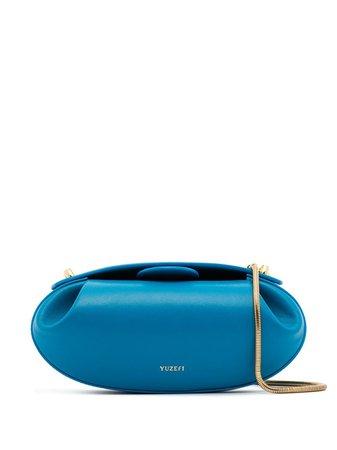 Yuzefi Blue Dinner Roll Leather Shoulder Bag - Farfetch