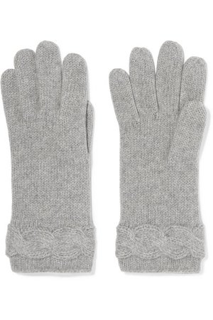 Portolano | Cable-knit cashmere beret and gloves set | NET-A-PORTER.COM