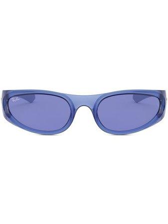 Ray-Ban RB4332 wraparound-frame Sunglasses - Farfetch
