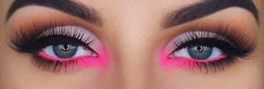 Bright Pink center eye makeup
