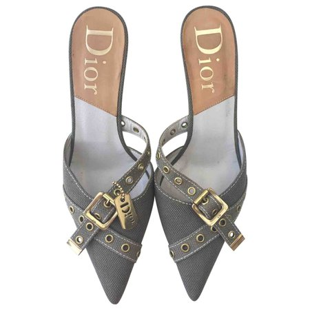 Cloth mules Dior Grey