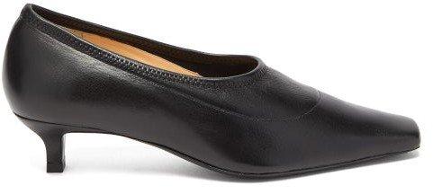 Harper Square-toe Leather Pumps - Womens - Black