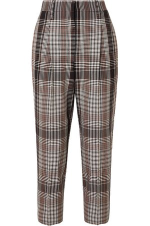 Brunello Cucinelli | Cropped plaid wool tapered pants | NET-A-PORTER.COM