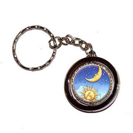 Celestial Sun Moon Stars Key Chain