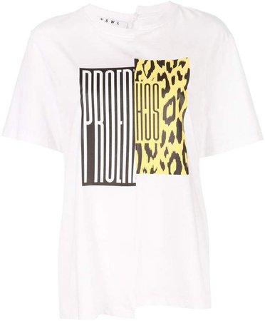 PSWL Split Logo Asymmetrical T-Shirt