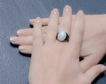 Vintage Malachite Ring / Brutalist Ring / Vintage Malachite /