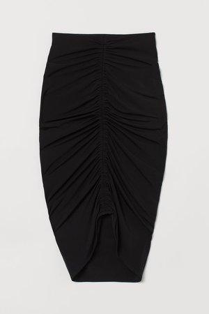 Draped Skirt - Black